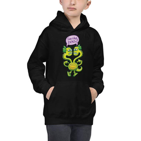 Two-headed bossy monster Kids Hoodie