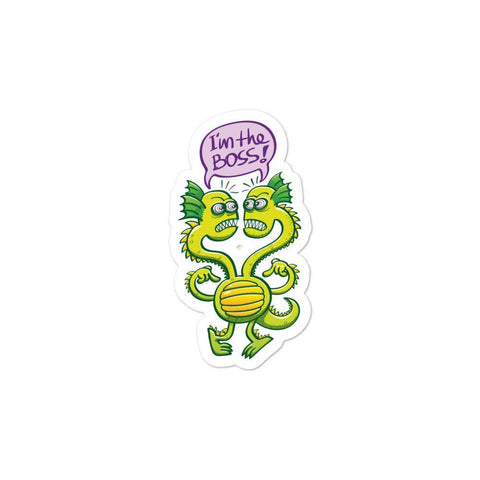 Two-headed bossy monster Bubble-free stickers - Zoo&co