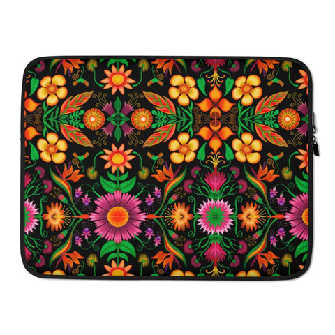 Wild flowers in a luxuriant jungle Laptop Sleeve