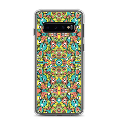 Alien monsters pattern design Samsung Case - Zoo&co