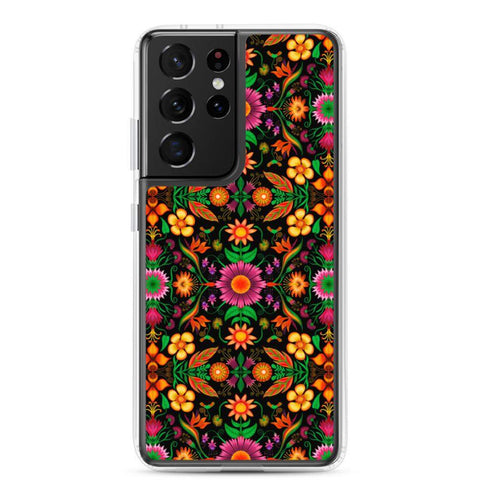Wild flowers in a luxuriant jungle Samsung Case