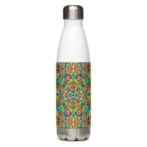 Alien monsters pattern design Stainless Steel Water Bottle