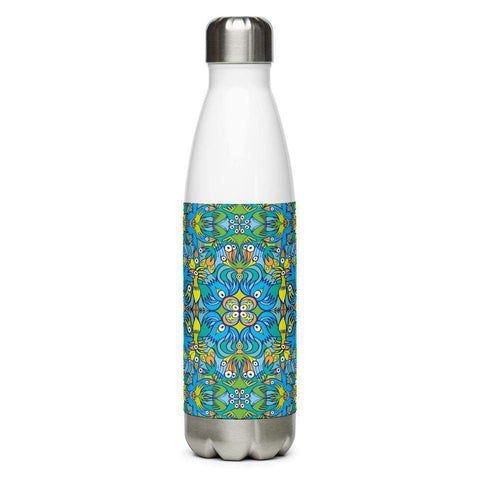 Exotic birds tropical pattern Stainless Steel Water Bottle