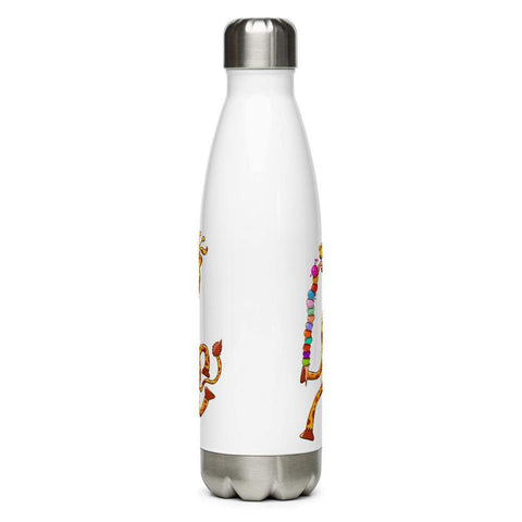 Cool giraffe eating ice cream Stainless Steel Water Bottle