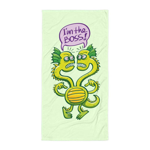 Two-headed bossy monster Towel - Zoo&co