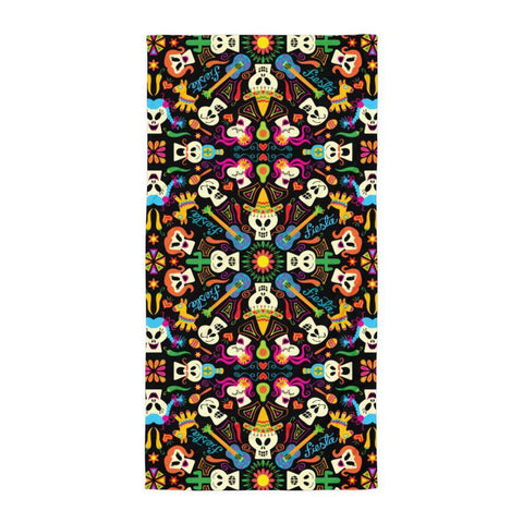 Day of the dead Mexican holiday Towel