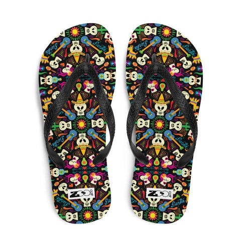 Day of the dead Mexican holiday Flip-Flops