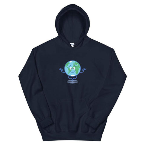 Happy Earth in deep meditation Unisex Hoodie