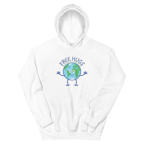 Planet Earth accepts free hugs all year round Unisex Hoodie