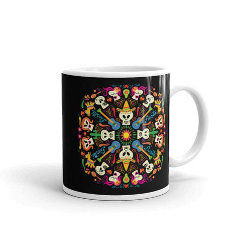 Day of the dead Mexican holiday White glossy mug