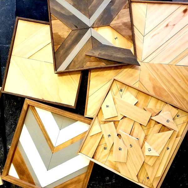 Make Your Own Wood Mosaic Without Using Tools