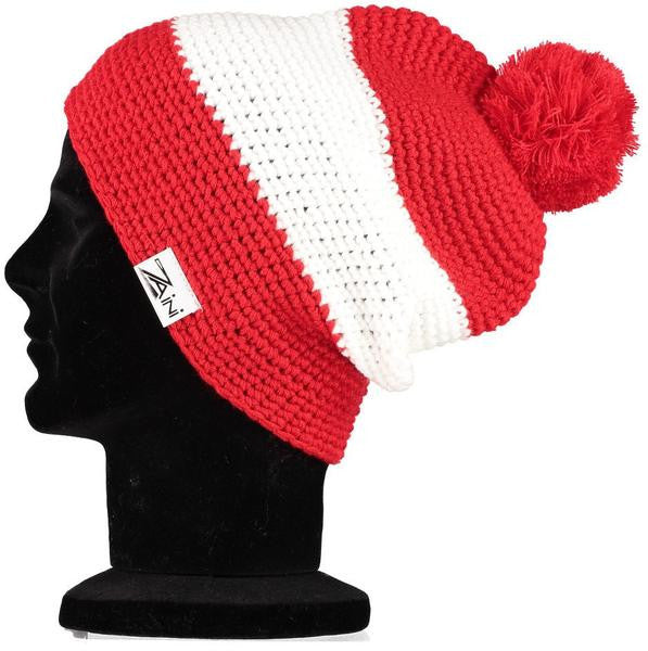 Arsenal Beanie Bobble Hat - Red and White  84c50c7c98