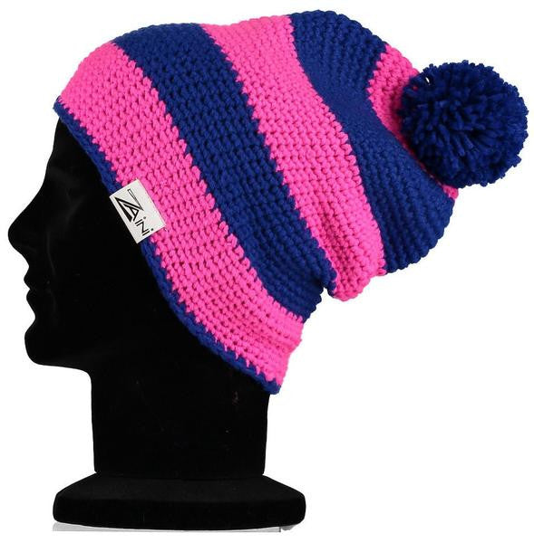 0ea19fd5b13 Jura Beanie Bobble Hat - Pink and Blue
