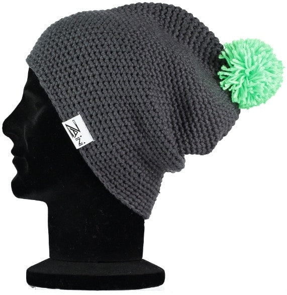 Melrose Beanie Bobble Hat - Grey and Bright Green  58b773f2d03