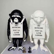 Load image into Gallery viewer, Banksy Do Nothing Monkey Sculpture