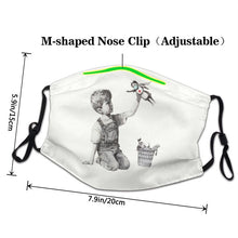 Load image into Gallery viewer, Banksy Nhs Superhero Reusable Face Mask