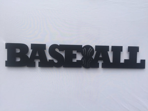 Baseball Word Metal Sign