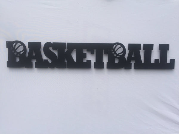 Basketball Word Metal Sign