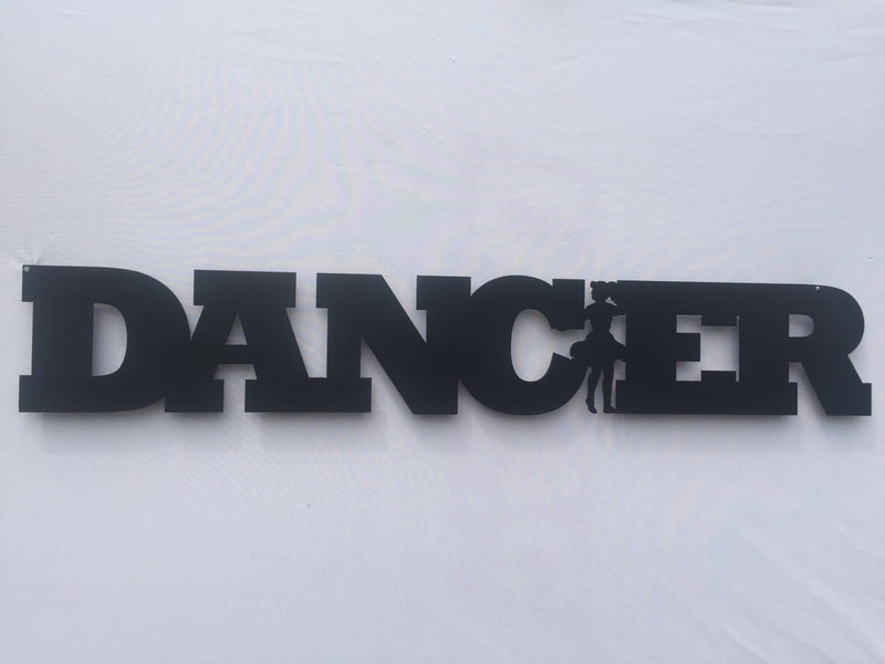 Dancer Word Metal Sign
