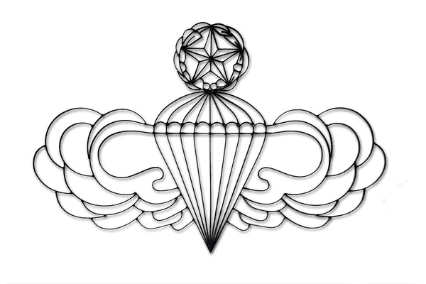 Metal Airborne Master Jumper Wall Decor Symbol