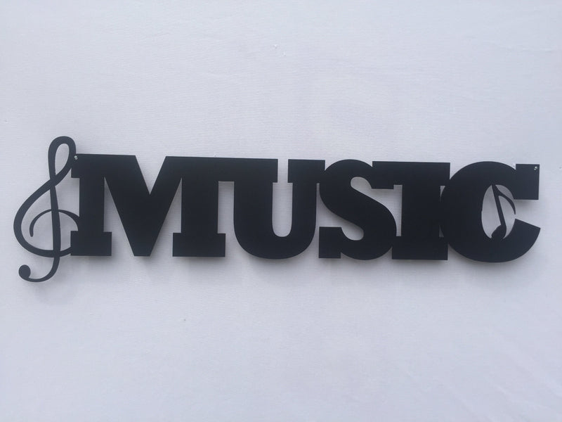 Music Word Metal Sign