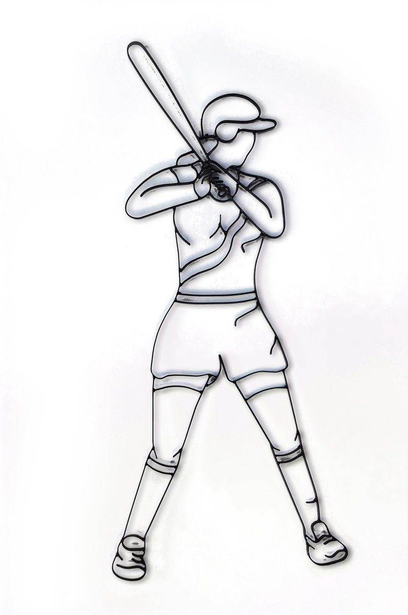 Softball Metal Wall Decor and Wall Art Sculpture