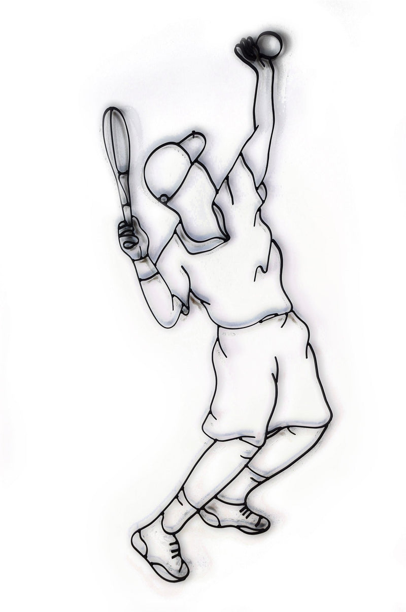metal tennis wall decor male