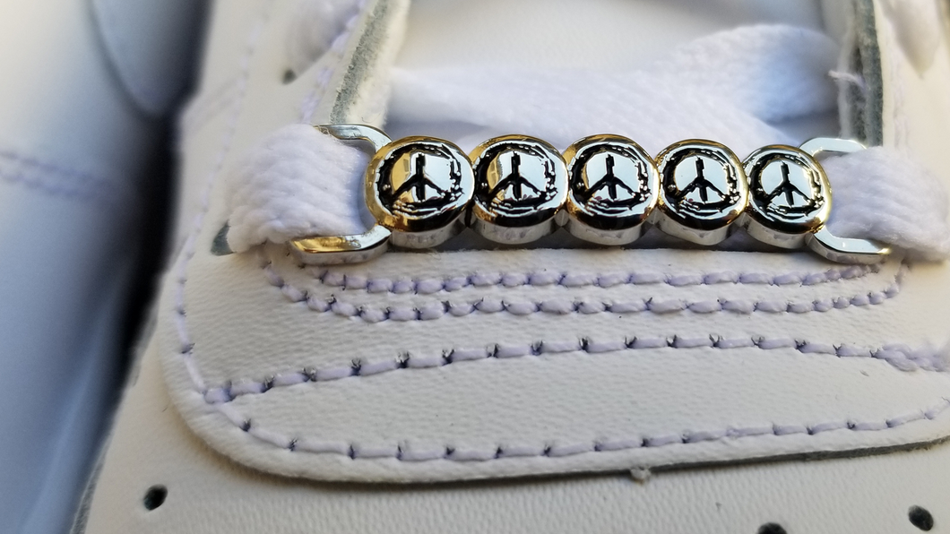 Painted Peace Shoe Charms