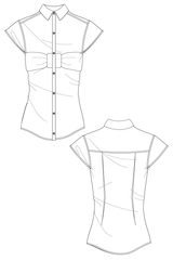 Shirt with bow, flat drawing by Ralph Pink