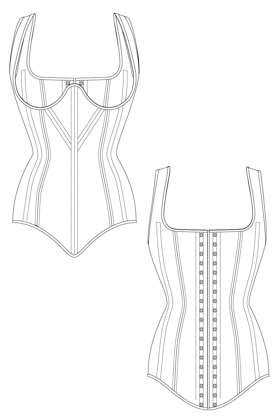 Corset Sewing Pattern Simple Inspiration Design