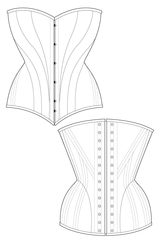 HIstoric Vintage Over Bust Corset Sewing Pattern Ralph Pink Patterns