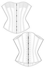 Vintage Front Busk Overbust Corset Sewing Pattern Ralph Pink Patterns