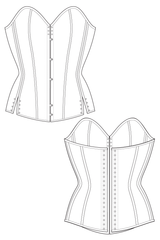 Romero corset flat drawing by Ralph Pink