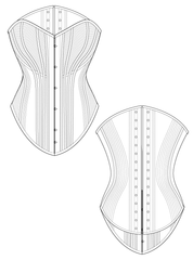 Tolledo corset flat drawing by Ralph Pink
