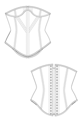 Underbust Waspie Waist Training Tight lacing Corset Sewing Pattern Ralph Pink Patterns