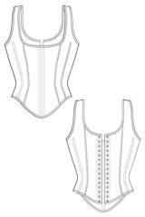 Historic Vintage Shoulder Strap Corset Sewing Pattern Waist Training Ralph Pink Patterns