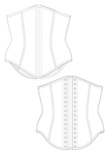 Laila corset flat drawing by Ralph Pink
