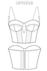 Underwire Corset Corselette Bra Sewing Pattern Ralph Pink Patterns
