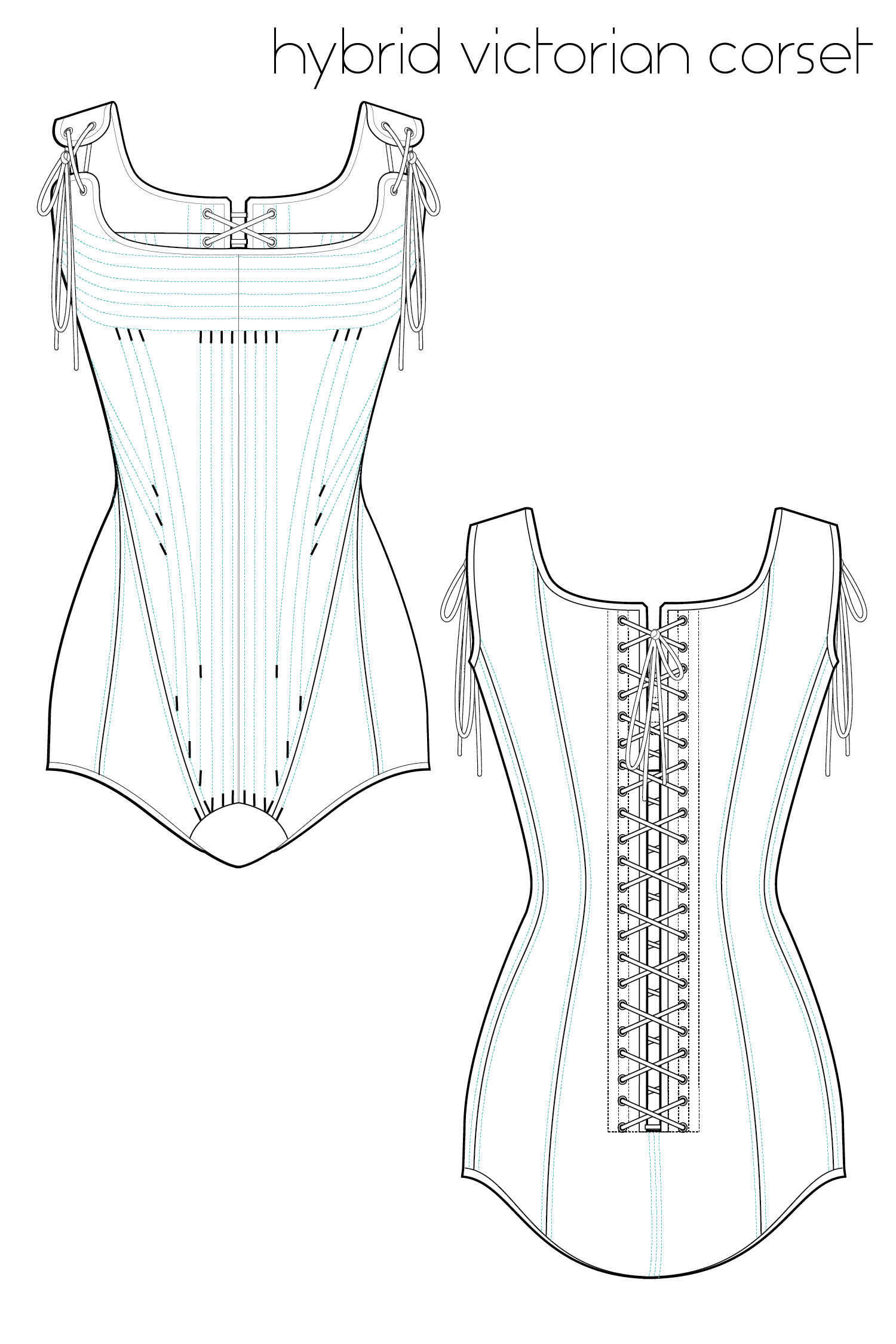 Corset Sewing Pattern Magnificent Decorating Design