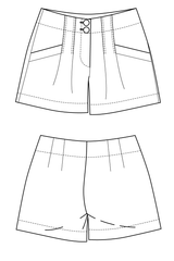 Panthea shorts flat drawing by Ralph Pink