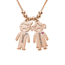 Load image into Gallery viewer, KIDS CHARMS MOM NECKLACE