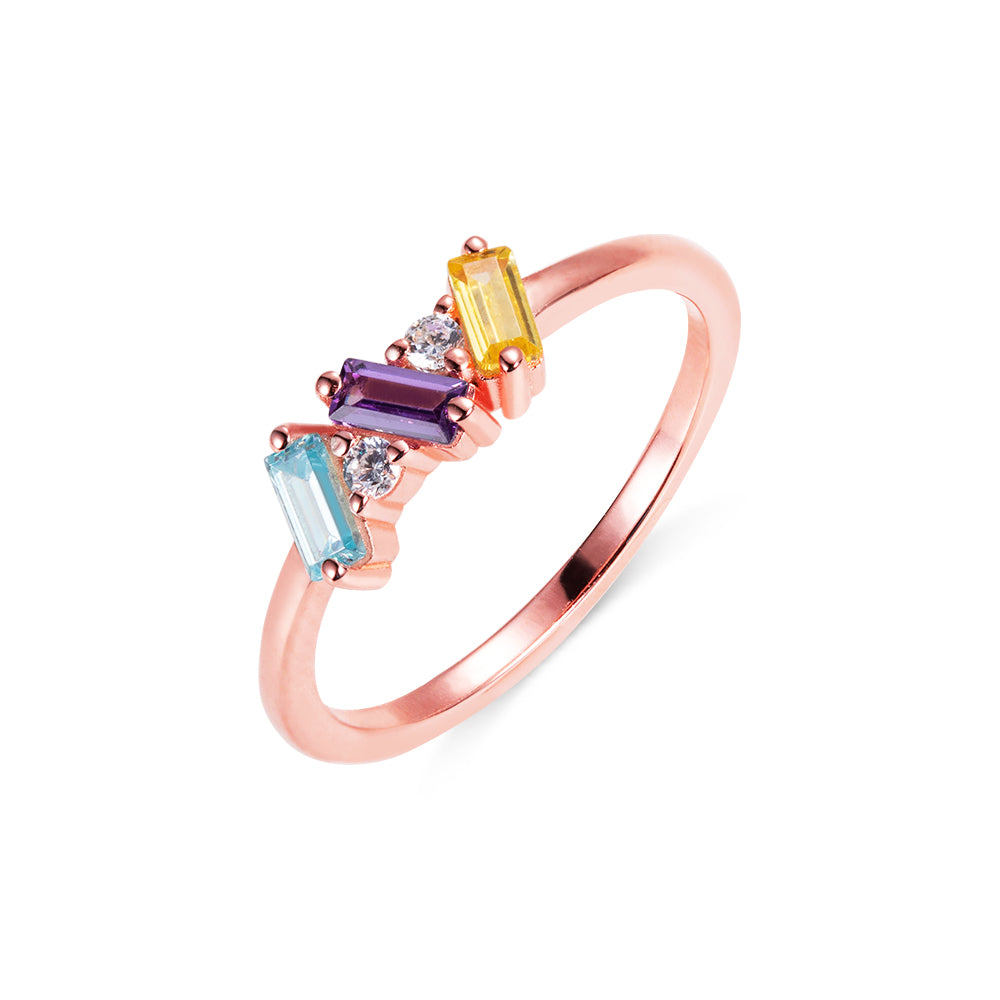 CUSTOM BAGUETTE BIRTHSTONE RING