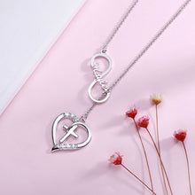 Load image into Gallery viewer, HEART SHAPED CROSS NECKLACE