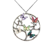 Load image into Gallery viewer, BUTTERFLY BIRTHSTONE FAMILY TREE NECKLACE