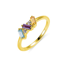 Load image into Gallery viewer, CUSTOM BAGUETTE BIRTHSTONE RING