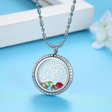 Load image into Gallery viewer, TREE OF LIFE FLOATING BIRTHSTONE NECKLACE