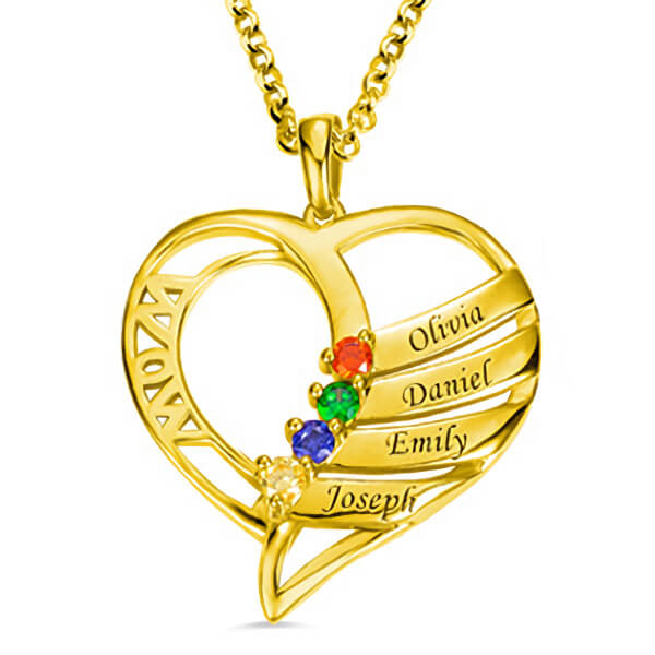 MOM'S HEART NECKLACE