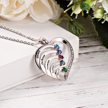 Load image into Gallery viewer, SPARKLING FAMILY HEART NECKLACE