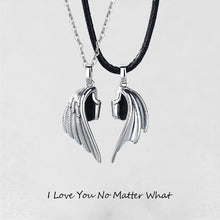Load image into Gallery viewer, TWO WINGS ONE HEART NECKLACE