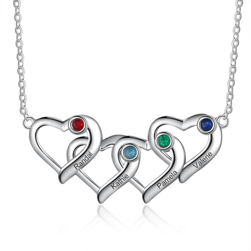 PERSONAlIZED HEART BIRTHSTONE NECKLACE